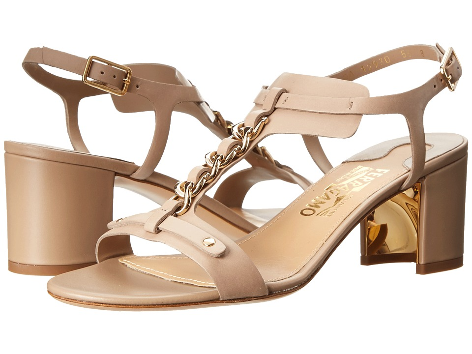Salvatore Ferragamo - Maki 55 (Greige Kid Skin) High Heels