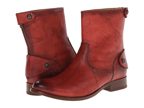 Frye - Melissa Button Zip Short (Burnt Red Dakota) Women