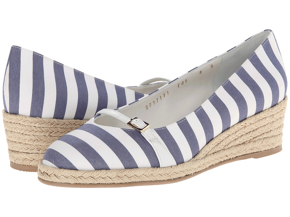 Salvatore Ferragamo - Audrey 40 Stripe (New Iris) Women's Wedge Shoes