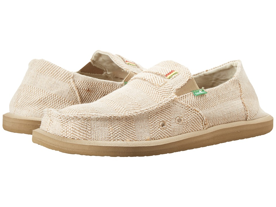 Sanuk - Kingston Jute (Natural) Men's Slip on Shoes