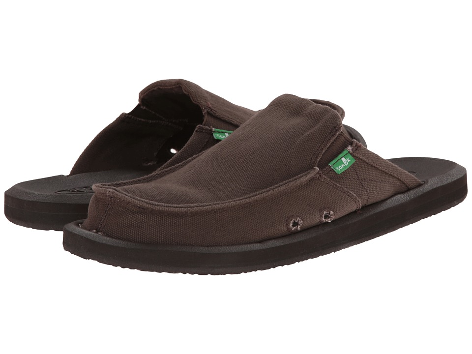 Sanuk - You Got My Back 2 Basics (Dark Brown) Men's Slip on Shoes