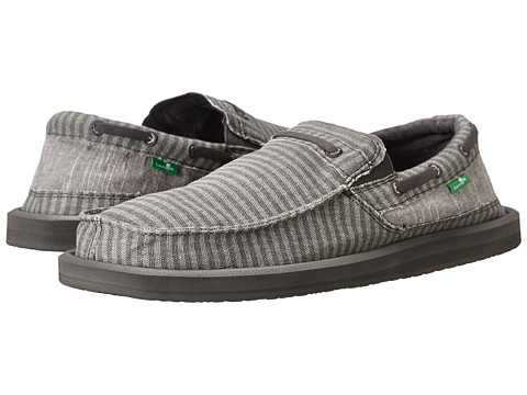 Sanuk - Skipjack (Washed Grey Stripe) Men's Shoes