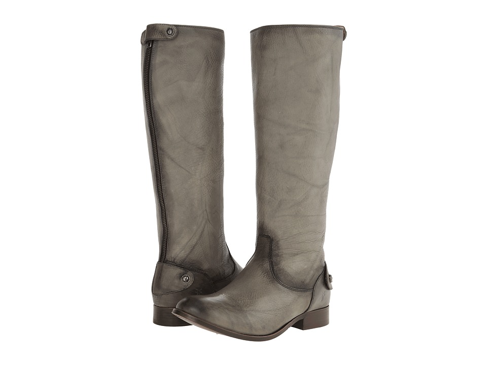 Frye - Melissa Button Back Zip (Grey Dakota) Women's Zip Boots