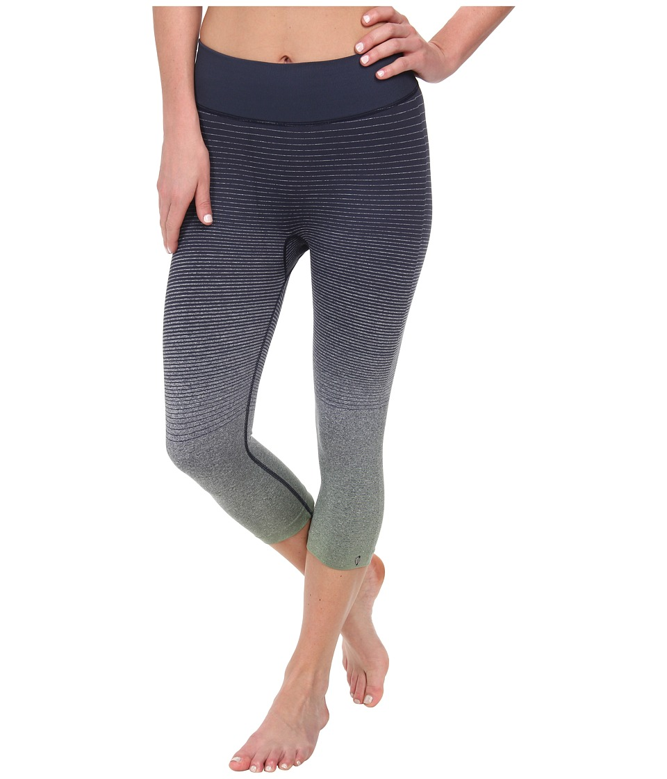 Brooks - PureProject Seamless Ombre Capri (Midnight/Sage) Women