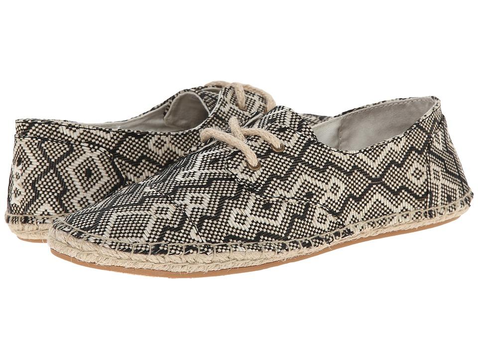 Reef - Escape ES (Black/White) Women's Lace up casual Shoes