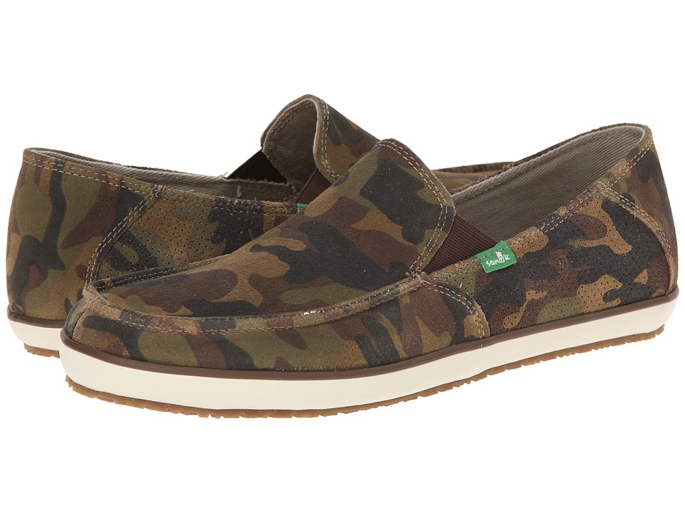 Sanuk - Casa Suede (Camo) Men's Slip on Shoes