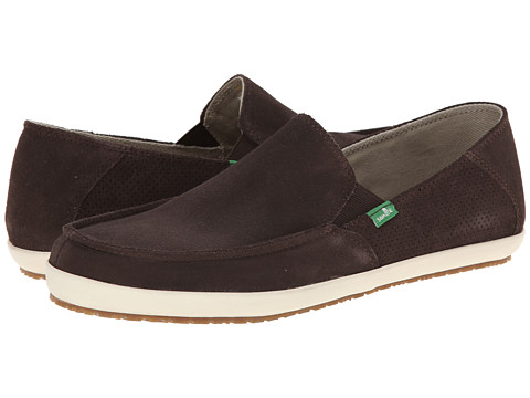 Sanuk - Casa Suede (Dark Brown) Men's Slip on Shoes