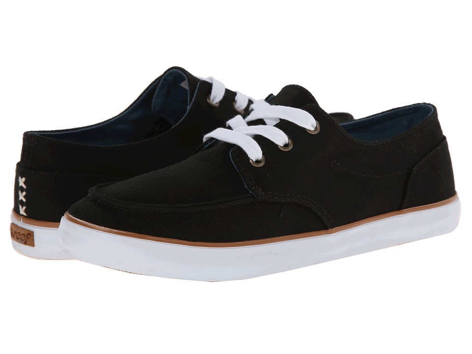 Reef - Deckhand 3 (Black) Women's Lace up casual Shoes