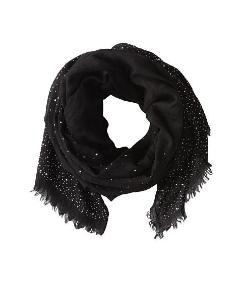 BCBGMAXAZRIA - Diamonte Stud Wrap (Black) Scarves