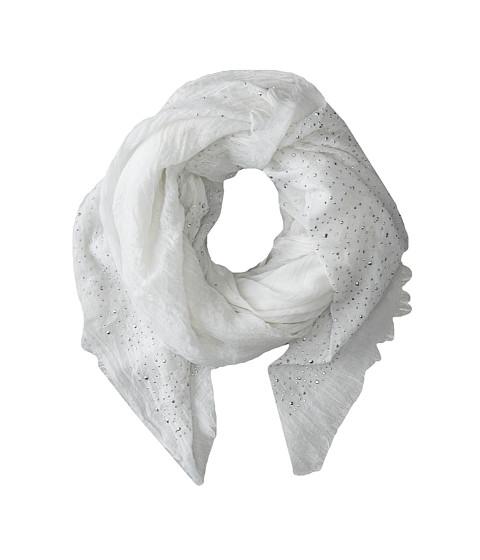 BCBGMAXAZRIA - Diamonte Stud Wrap (White) Scarves