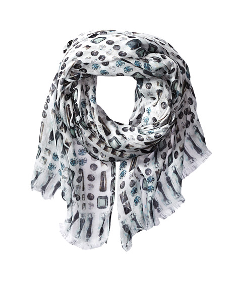 BCBGMAXAZRIA - High Shine Scarf (White) Scarves