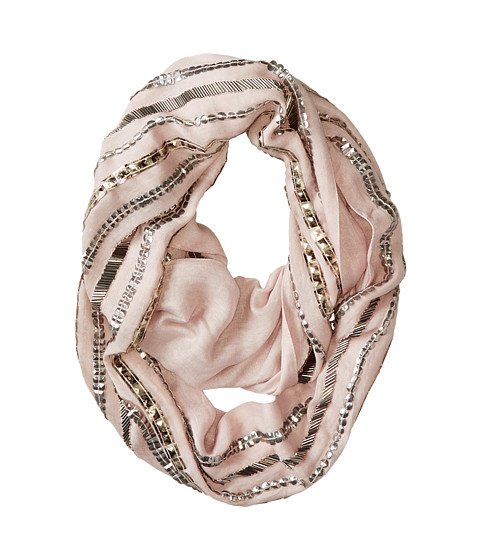 BCBGMAXAZRIA - Studded Evening Loop Scarf (Peach Blush) Scarves