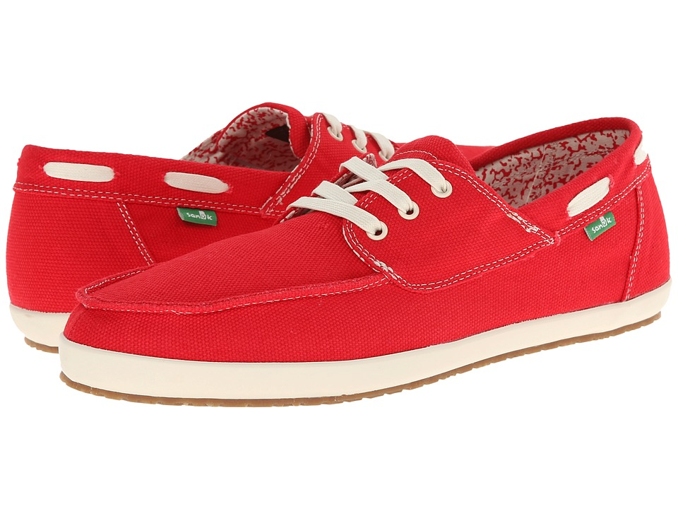Sanuk - Casa Barco (Red) Men's Lace up casual Shoes