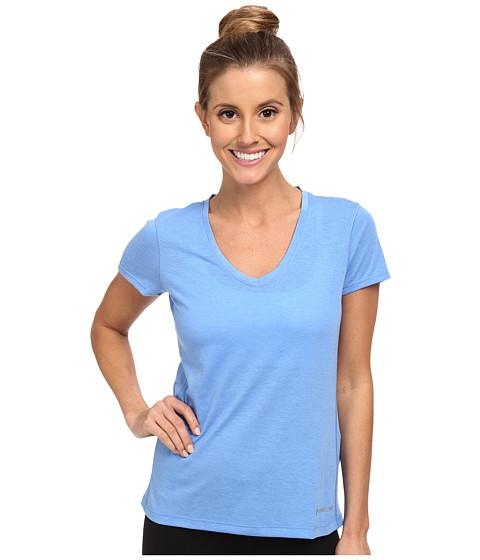 Brooks - Versatile S/S IV (Heather Cornflower) Women's Short Sleeve Pullover