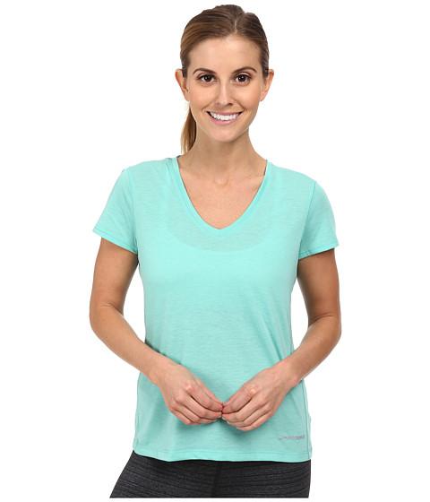 Brooks - Versatile S/S IV (Heather Lagoon) Women's Short Sleeve Pullover