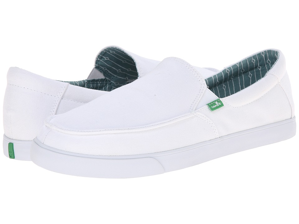 Sanuk - Sideline (White) Men's Slip on Shoes