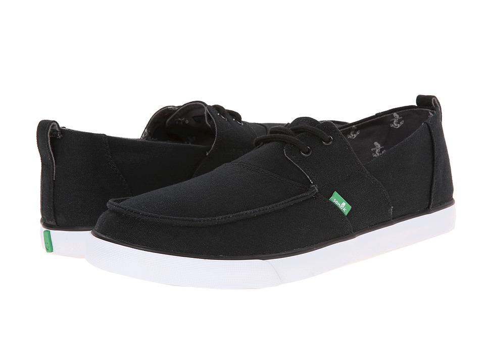 Sanuk - Offshore (Black) Men's Slip on Shoes