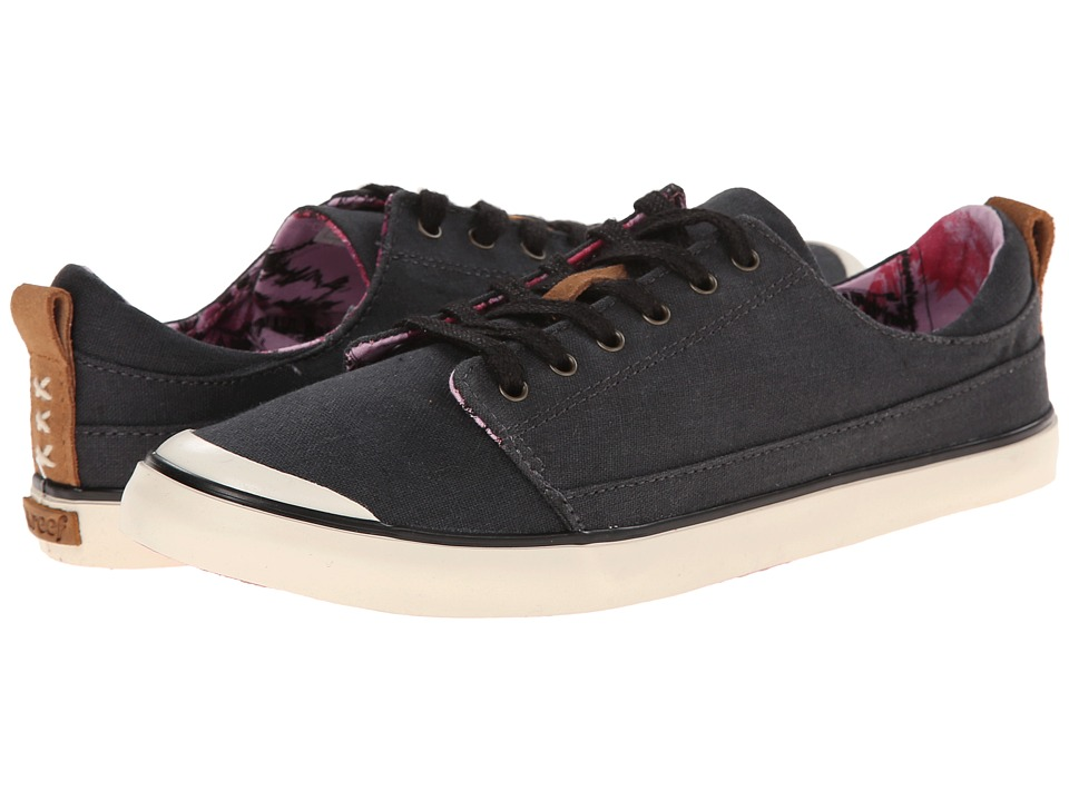 Reef - Walled Low (Black) Women's Lace up casual Shoes