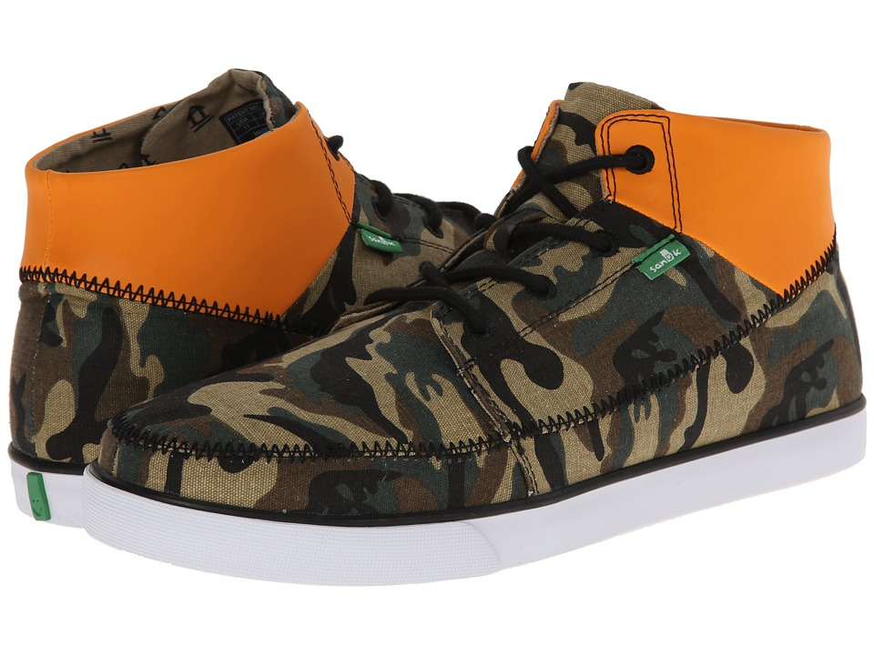 Sanuk Highrise (Camo/Orange Reflective) Men