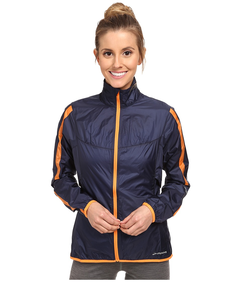 Brooks - LSD Lite Jacket IV (Midnight/Creamsicle) Women's Jacket