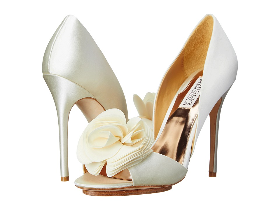 Badgley Mischka - Blossom (Ivory Satin) High Heels