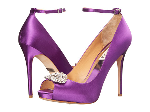 Badgley Mischka - Finley (Orchid Satin) High Heels