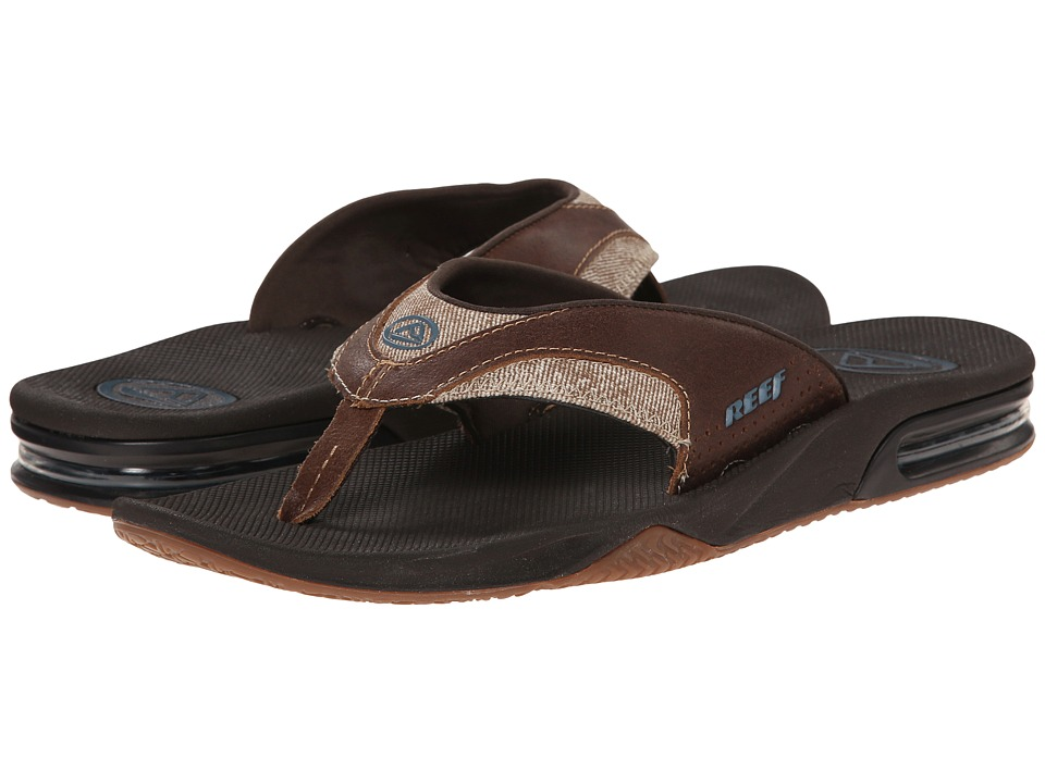 Reef - Fanning TX (Dark Brown/Gum) Men's Sandals