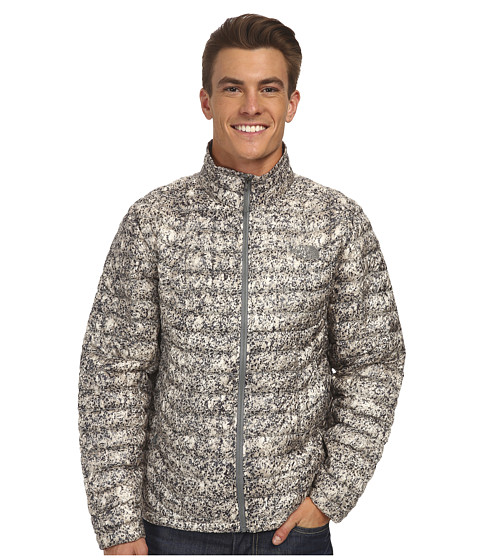 The North Face - ThermoBall Full Zip Jacket (Moonstruck Grey Mineral Print) Men's Coat