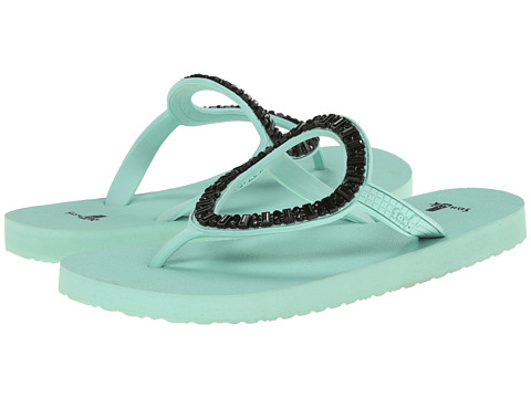 Sanuk - Ibiza Monaco (Mint/Black) Women's Sandals