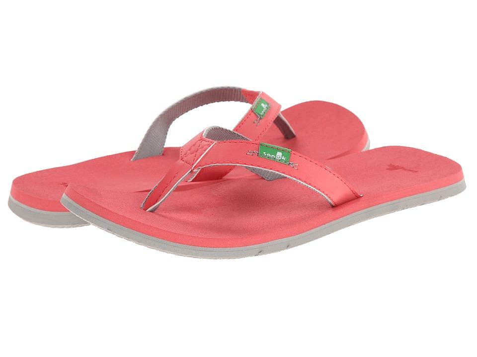 Sanuk - On The Rocks (Watermelon/Grey) Women's Sandals