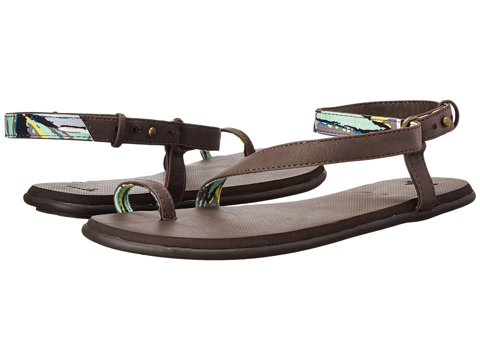 Sanuk Ankletini (Brown/Aqua Multi) Women
