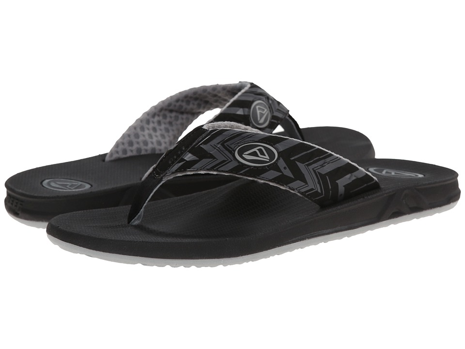 Reef - Phantom Prints (Charcoal Chevron) Men's Sandals