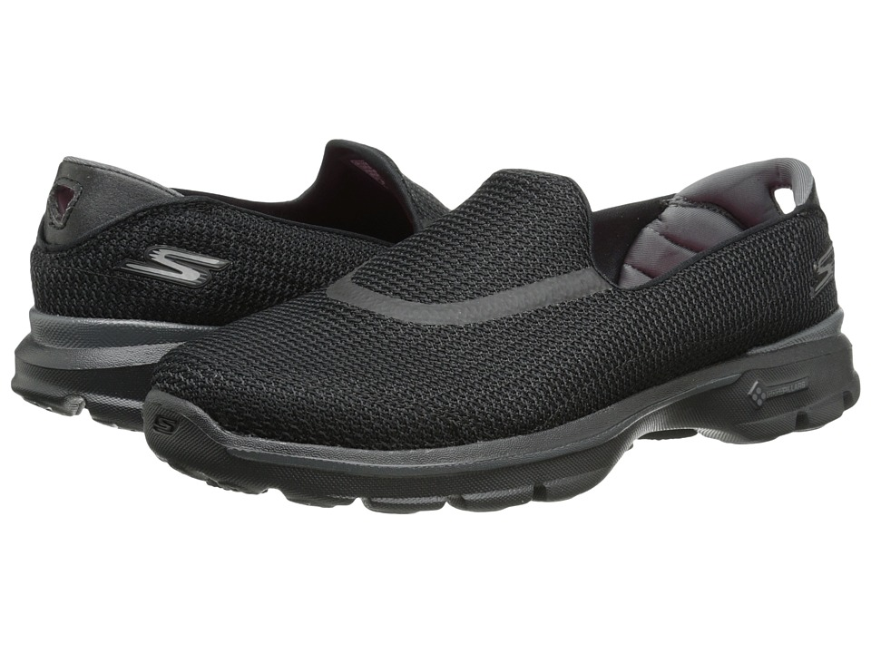 SKECHERS Performance - Go Walk 3 (Black) Women's Flat Shoes