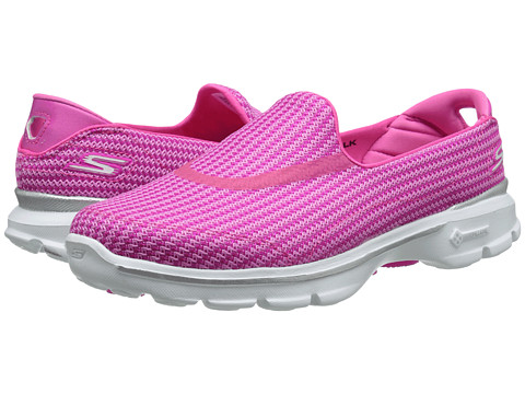 SKECHERS Performance - Go Walk 3 (Hot Pink) Women's Flat Shoes