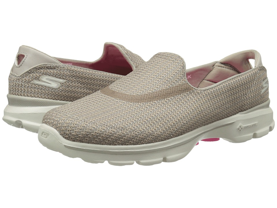 SKECHERS Performance - Go Walk 3 (Stone) Women's Flat Shoes