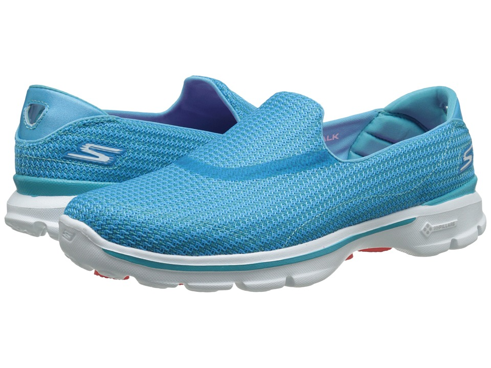 SKECHERS Performance - Go Walk 3 (Turquoise) Women's Flat Shoes