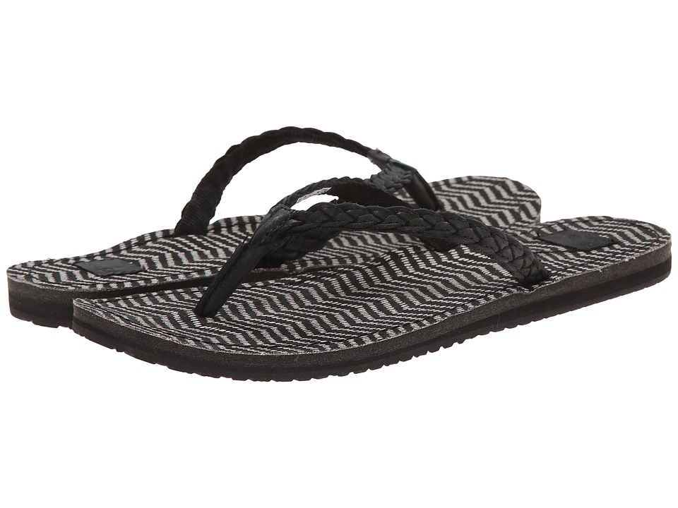 Sanuk - Poncho Viva (Black/Black Congo) Women's Sandals