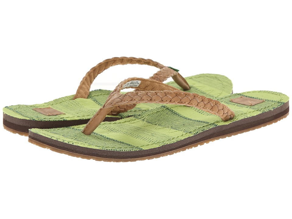 Sanuk - Poncho Viva (Tan/Citron Poncho) Women's Sandals