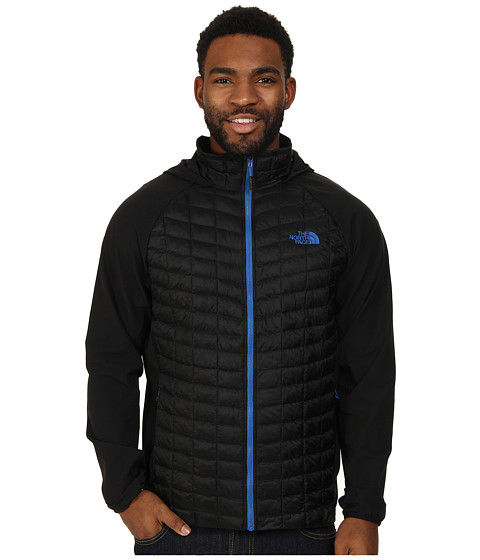 The North Face - ThermoBall Hybrid Hoodie (TNF Black/Monster Blue) Men's Coat