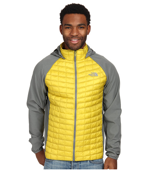 The North Face - ThermoBall Hybrid Hoodie (Acid Yellow/Sedona Sage Grey) Men's Coat