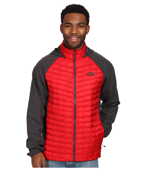 The North Face - ThermoBall Hybrid Hoodie (TNF Red/Asphalt Grey) Men