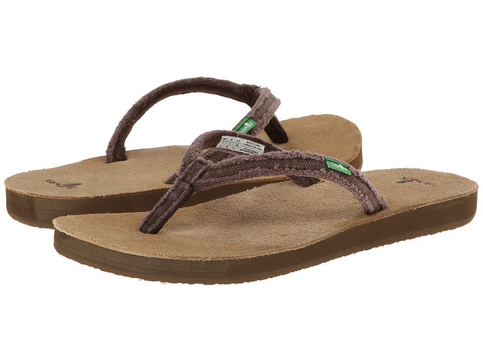 Sanuk - Slim Fraidy (Chocolate) Women's Sandals