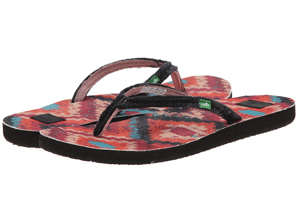 Sanuk Slim Fraidy Funk (Black Multi) Women