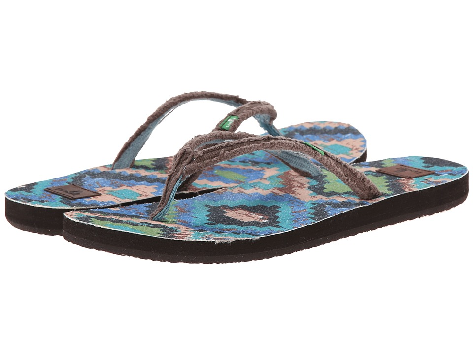 Sanuk Slim Fraidy Funk (Brown Multi) Women