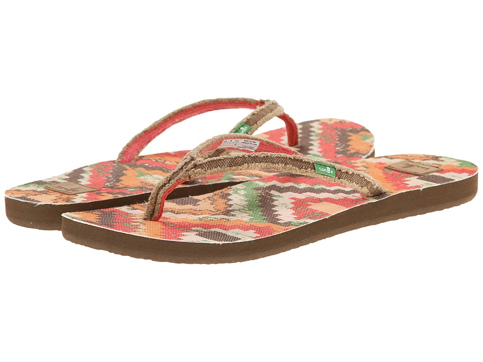 Sanuk - Slim Fraidy Funk (Tan Multi) Women