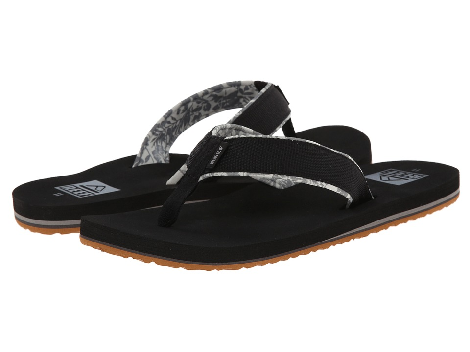 Reef - Ponto Prints (Black) Men's Sandals