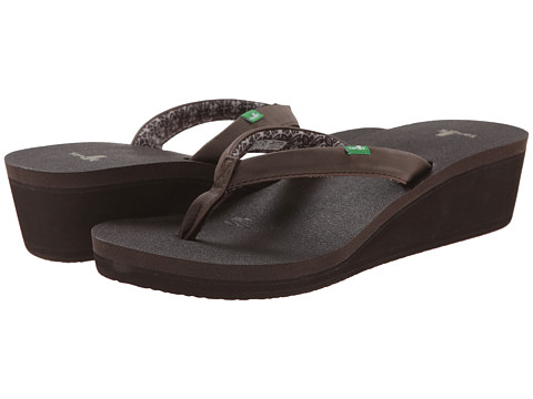 Sanuk - Yoga Zen Wedge (Brown) Women