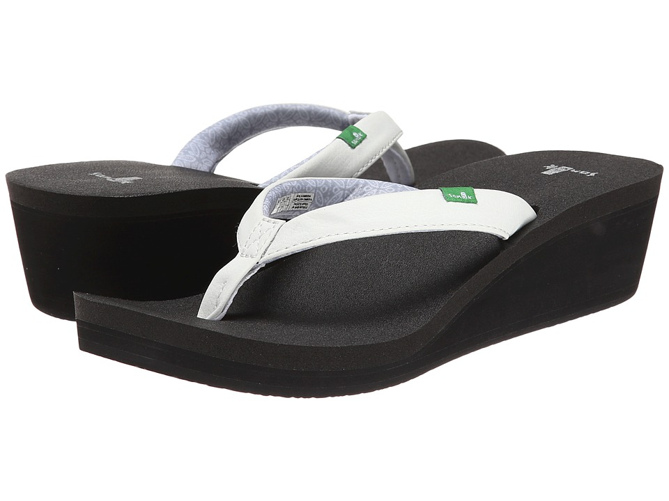 Sanuk - Yoga Zen Wedge (White) Women's Sandals