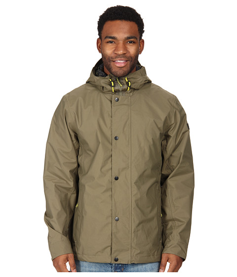 The North Face - Afton Rain Jacket (Burnt Olive Green) Men's Coat