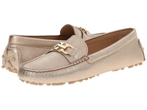 Salvatore Ferragamo - Saba (Greige Kid Skin) Women's Slip on Shoes